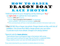 how to order Dragon Boat  race photos