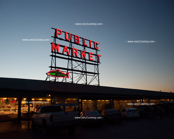 Pike Place Market Neon Sign