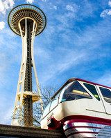 Space Needle and Seattle Center Monorail